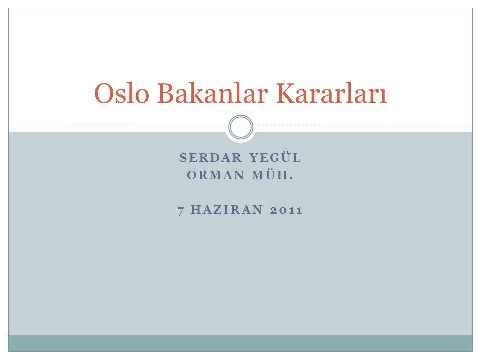 Oslo Bakanlar Kararları