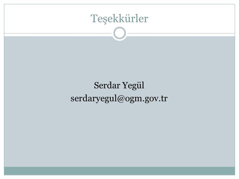 Serdar Yegül serdaryegul@ogm.gov.tr