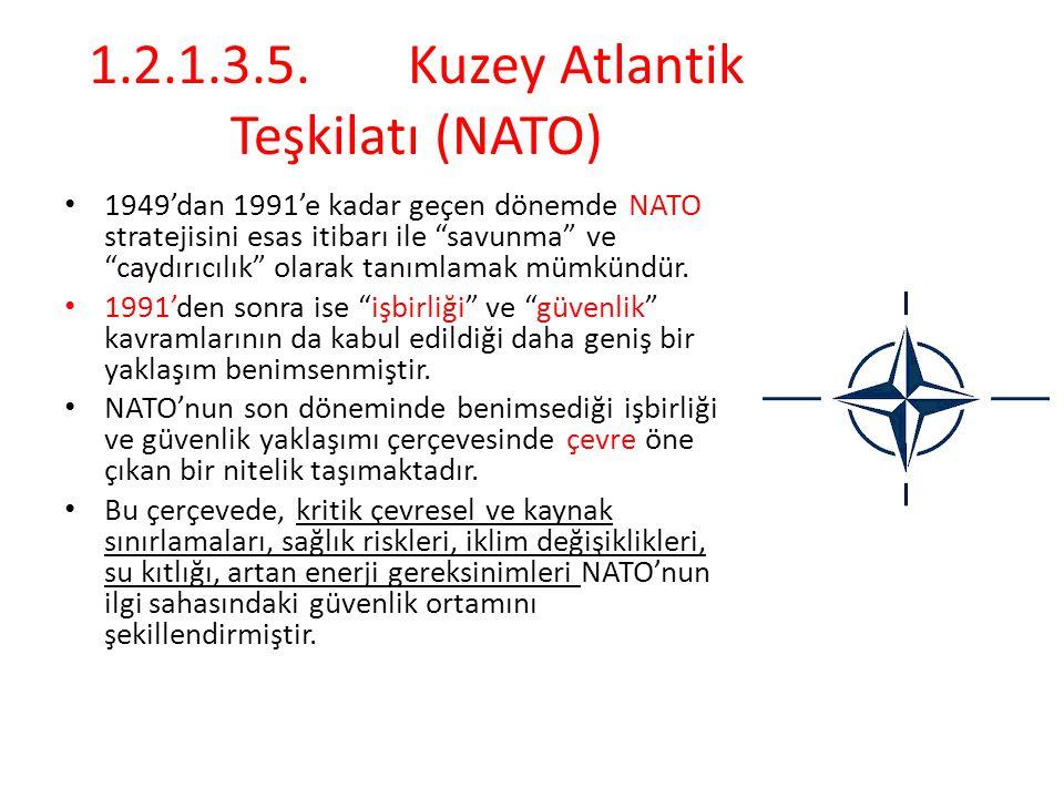 1.2.1.3.5. Kuzey Atlantik Teşkilatı (NATO)