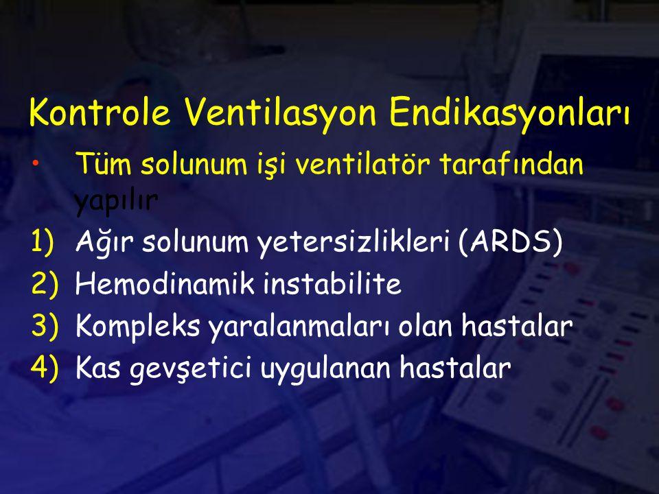 Kontrole Ventilasyon Endikasyonları