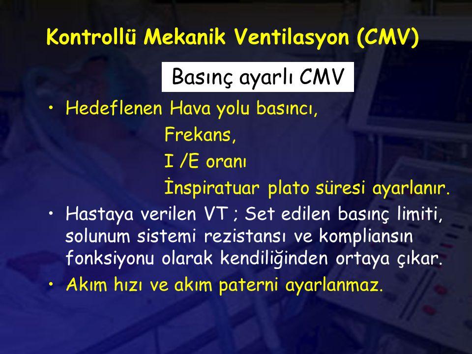 Kontrollü Mekanik Ventilasyon (CMV)