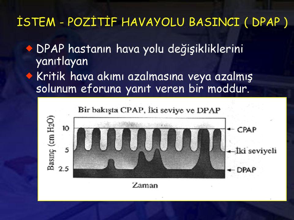 İSTEM - POZİTİF HAVAYOLU BASINCI ( DPAP )
