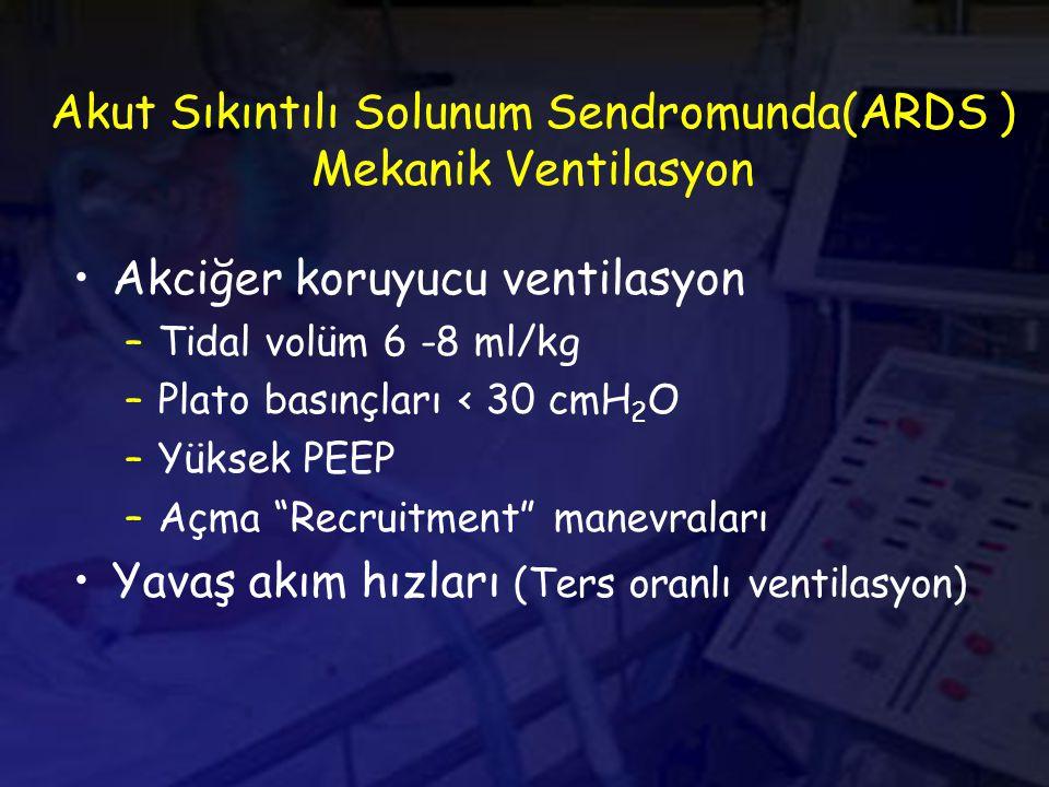 Akut Sıkıntılı Solunum Sendromunda(ARDS ) Mekanik Ventilasyon