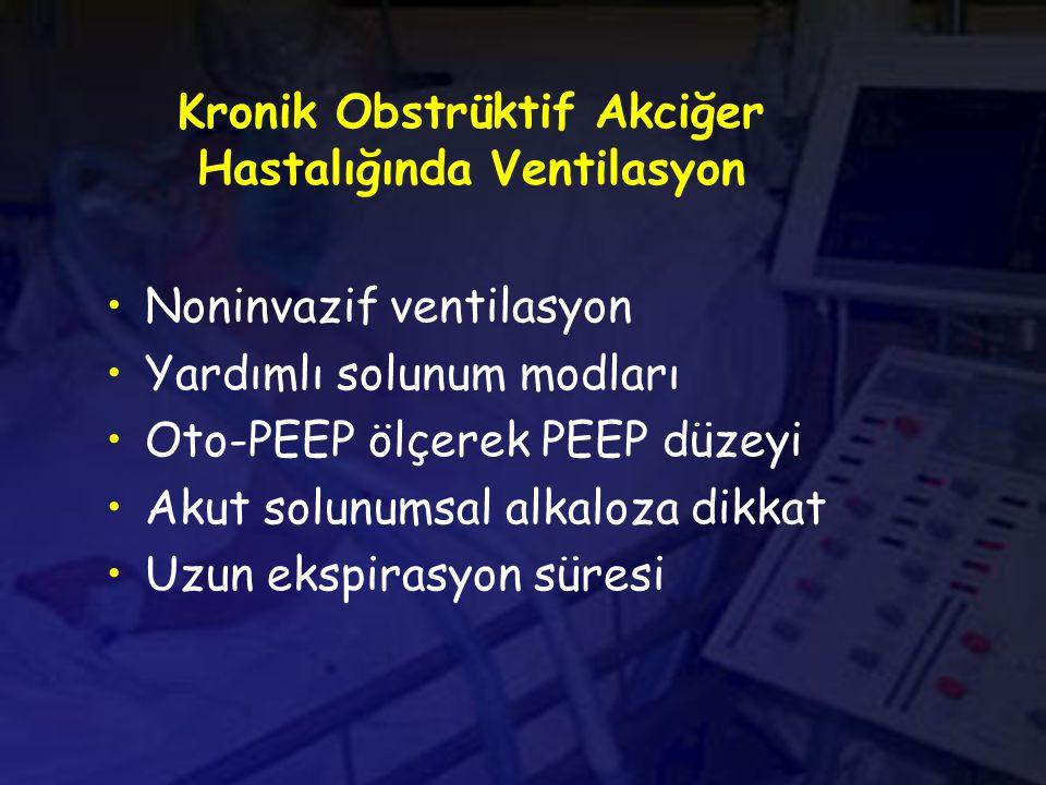 Kronik Obstrüktif Akciğer Hastalığında Ventilasyon