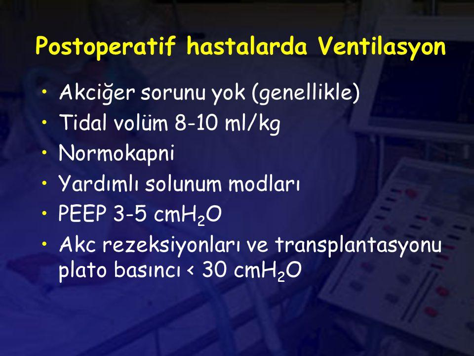 Postoperatif hastalarda Ventilasyon