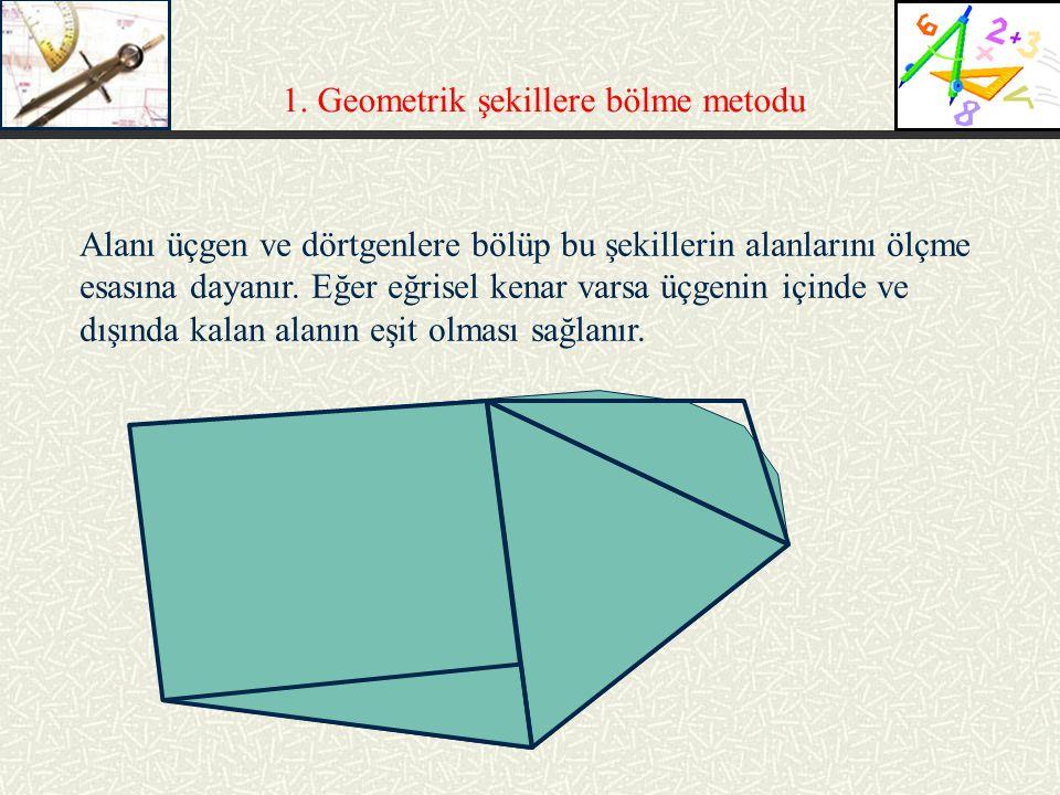 1. Geometrik şekillere bölme metodu