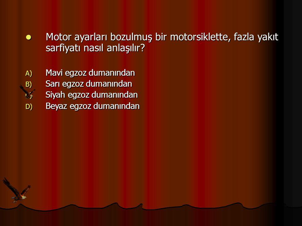 Motor ayarları bozulmuş bir motorsiklette, fazla yakıt sarfiyatı nasıl anlaşılır