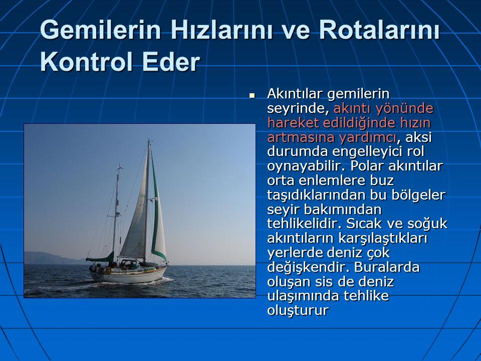 Gemilerin Hızlarını ve Rotalarını Kontrol Eder