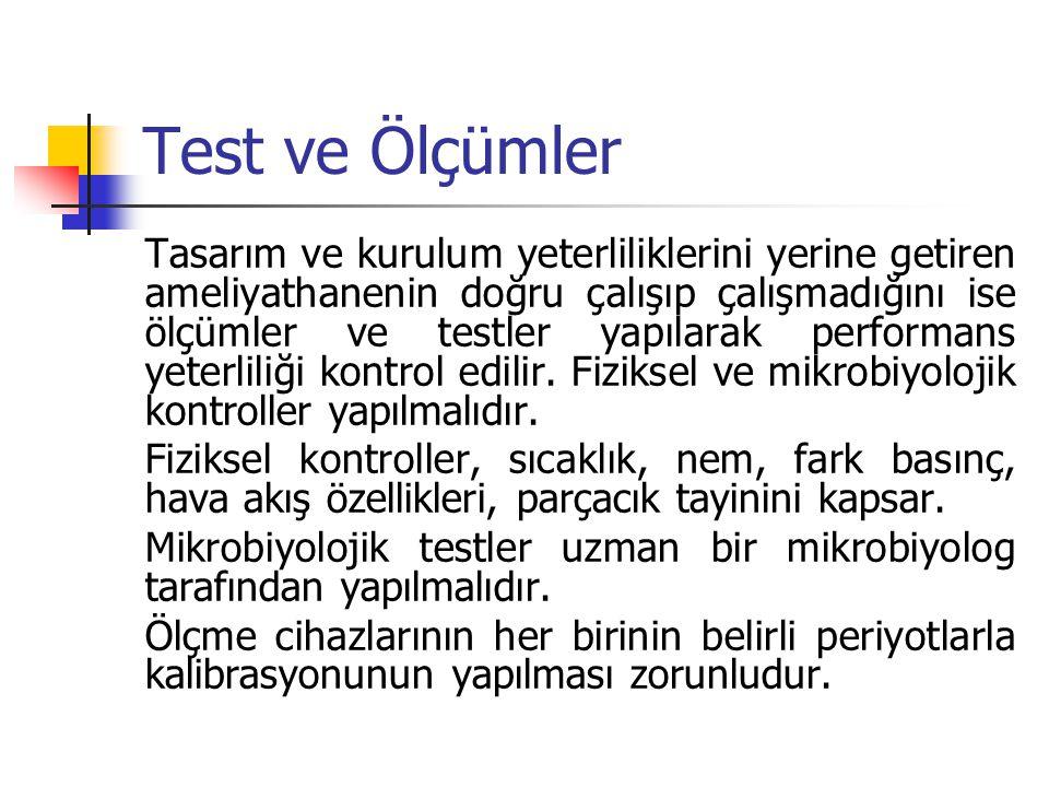Test ve Ölçümler