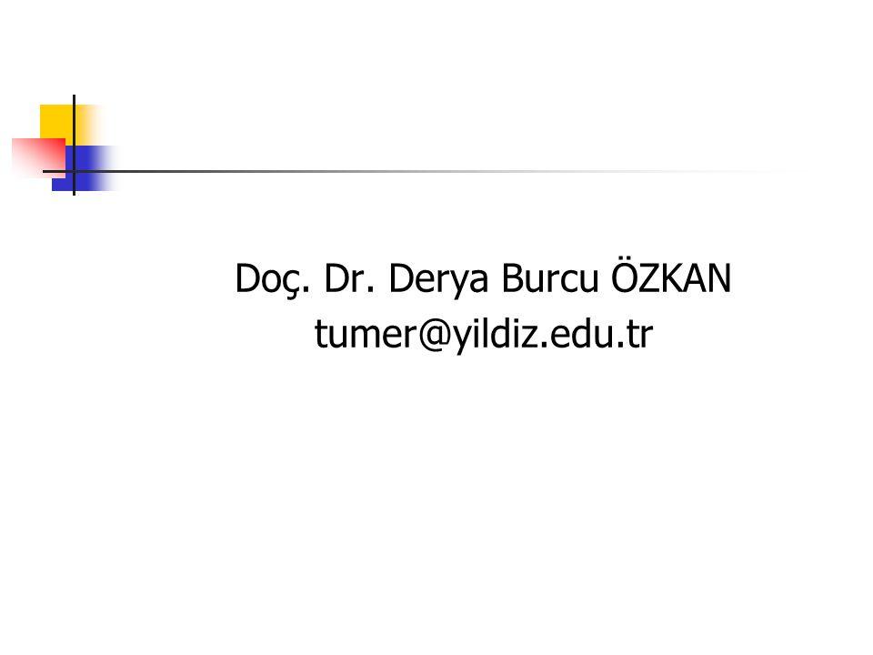 Doç. Dr. Derya Burcu ÖZKAN