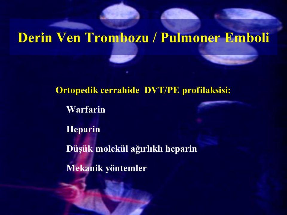 Derin Ven Trombozu / Pulmoner Emboli