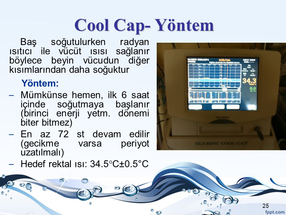 Cool Cap- Yöntem Yöntem: