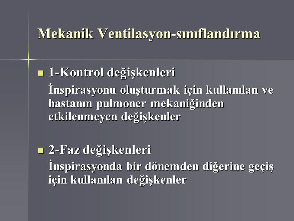 Mekanik Ventilasyon-sınıflandırma