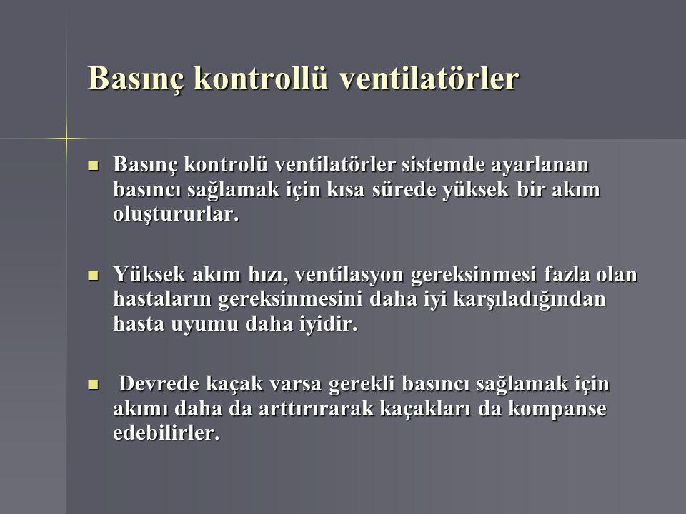 Basınç kontrollü ventilatörler