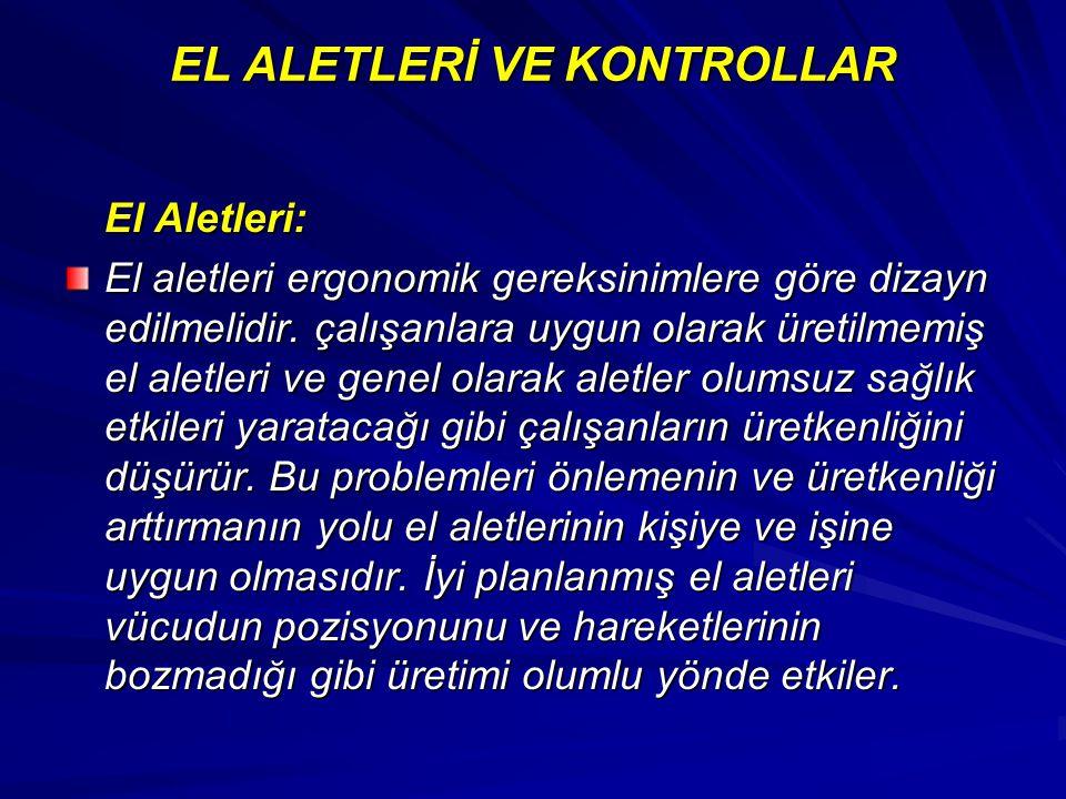 EL ALETLERİ VE KONTROLLAR