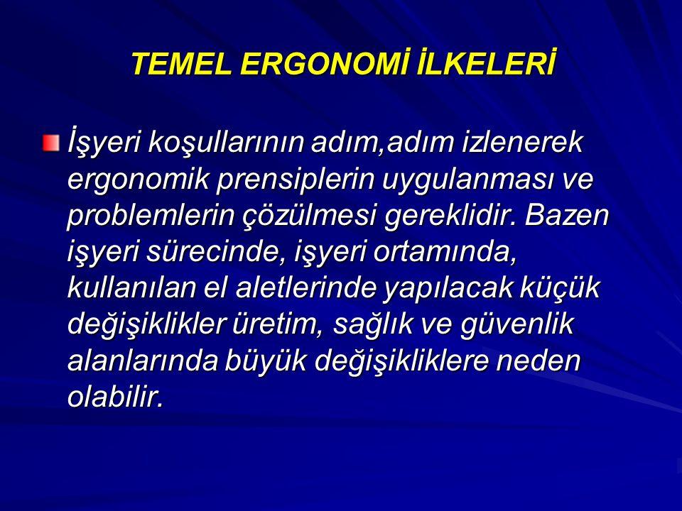 TEMEL ERGONOMİ İLKELERİ