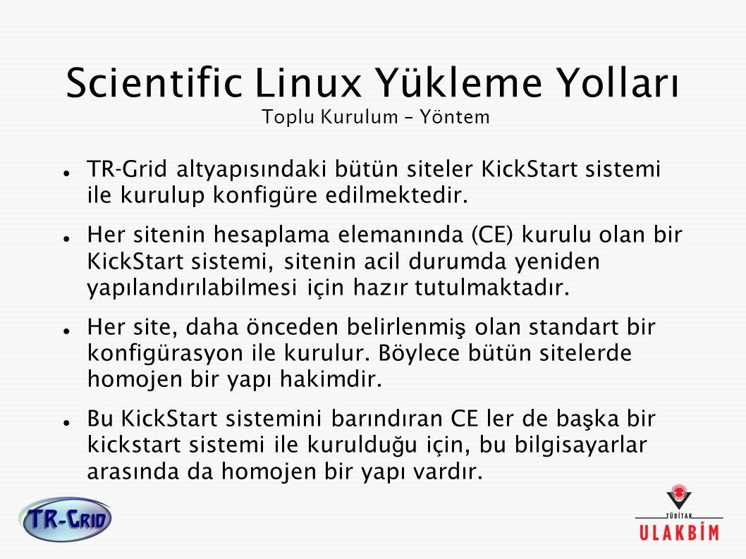 Scientific Linux Yükleme Yolları Toplu Kurulum – Yöntem