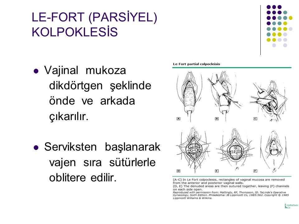 LE-FORT (PARSİYEL) KOLPOKLESİS