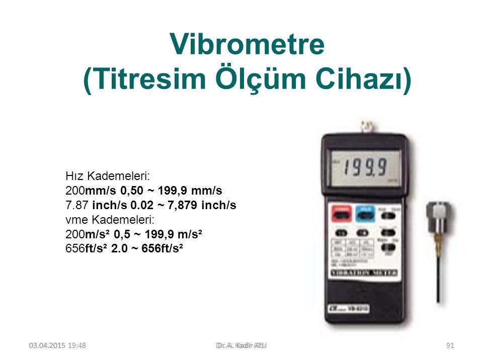 Vibrometre (Titresim Ölçüm Cihazı)