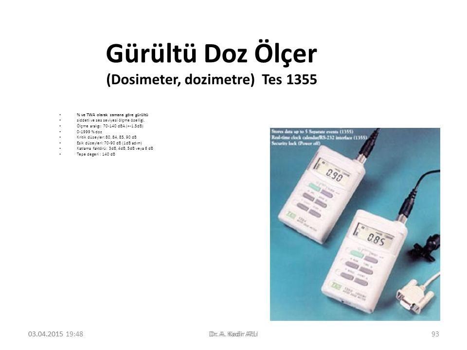 Gürültü Doz Ölçer (Dosimeter, dozimetre) Tes 1355