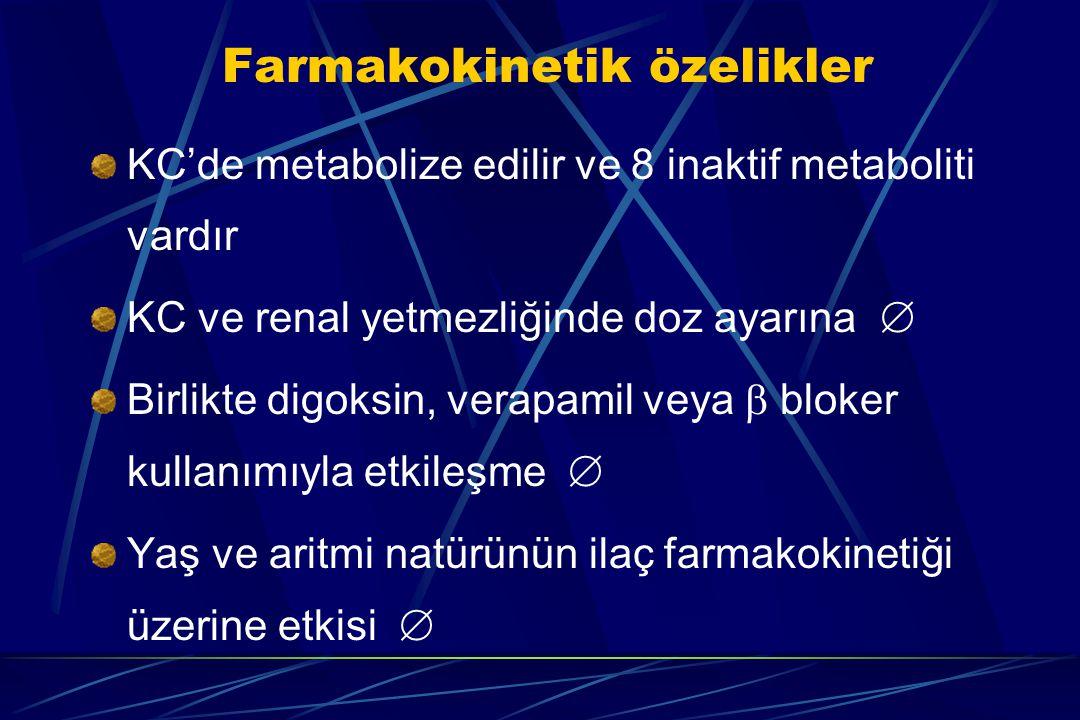 Farmakokinetik özelikler