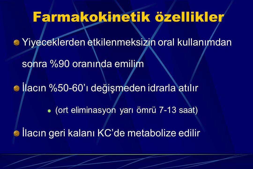 Farmakokinetik özellikler