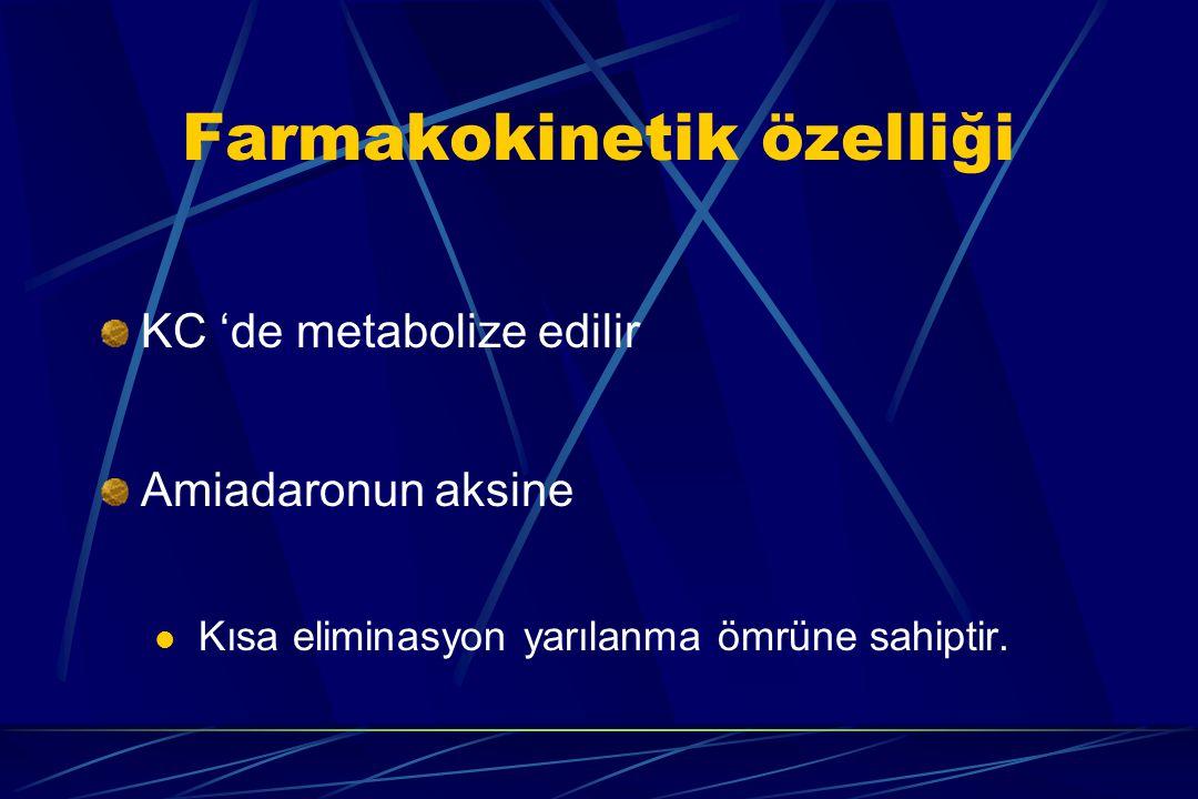 Farmakokinetik özelliği