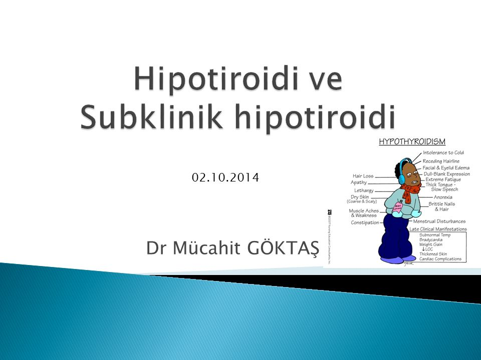 Hipotiroidi ve Subklinik hipotiroidi