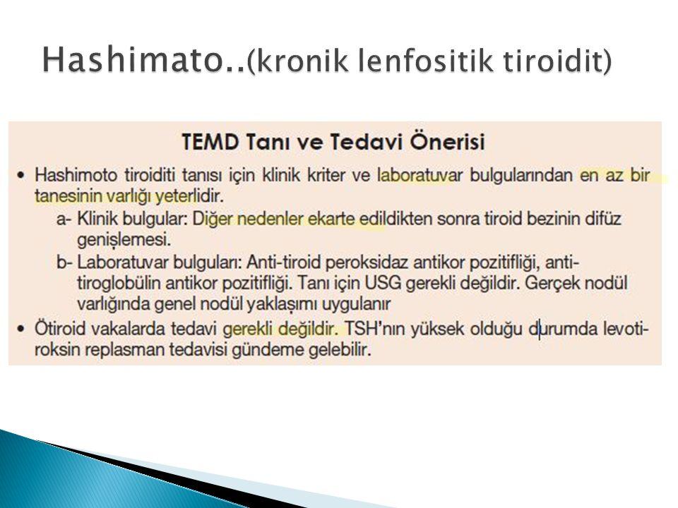 Hashimato..(kronik lenfositik tiroidit)