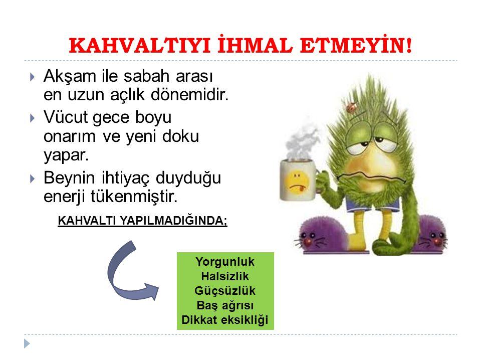 KAHVALTIYI İHMAL ETMEYİN!