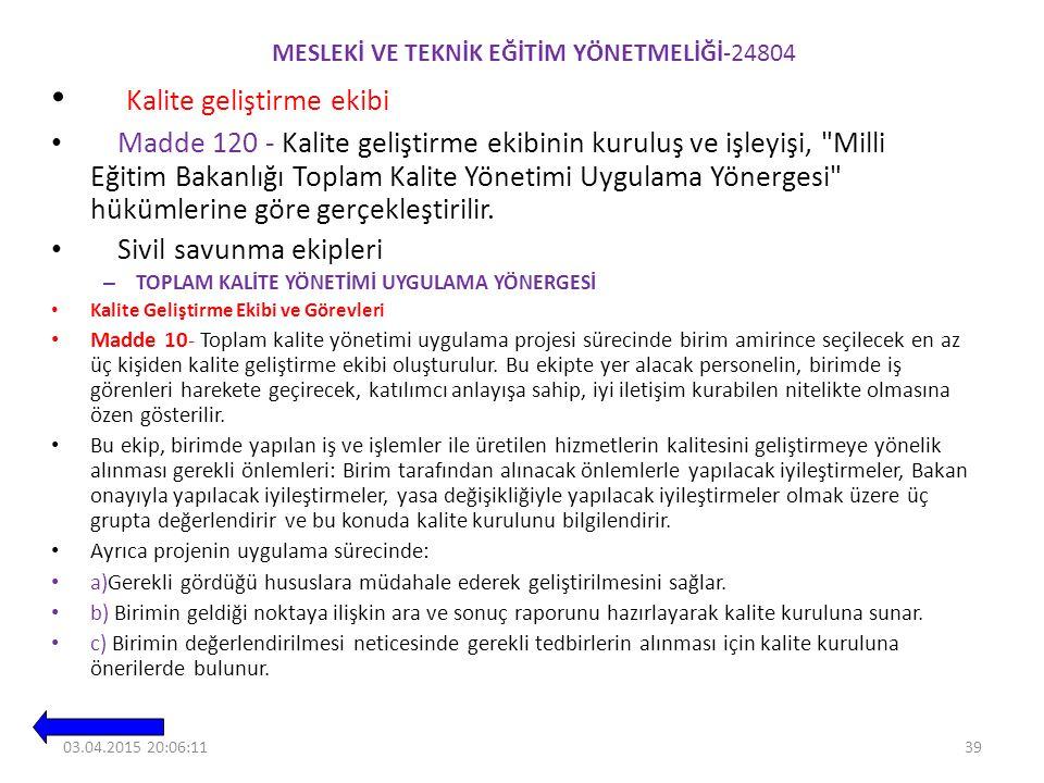 MESLEKİ VE TEKNİK EĞİTİM YÖNETMELİĞİ-24804