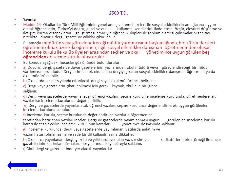 2569 T.D. Yayınlar.