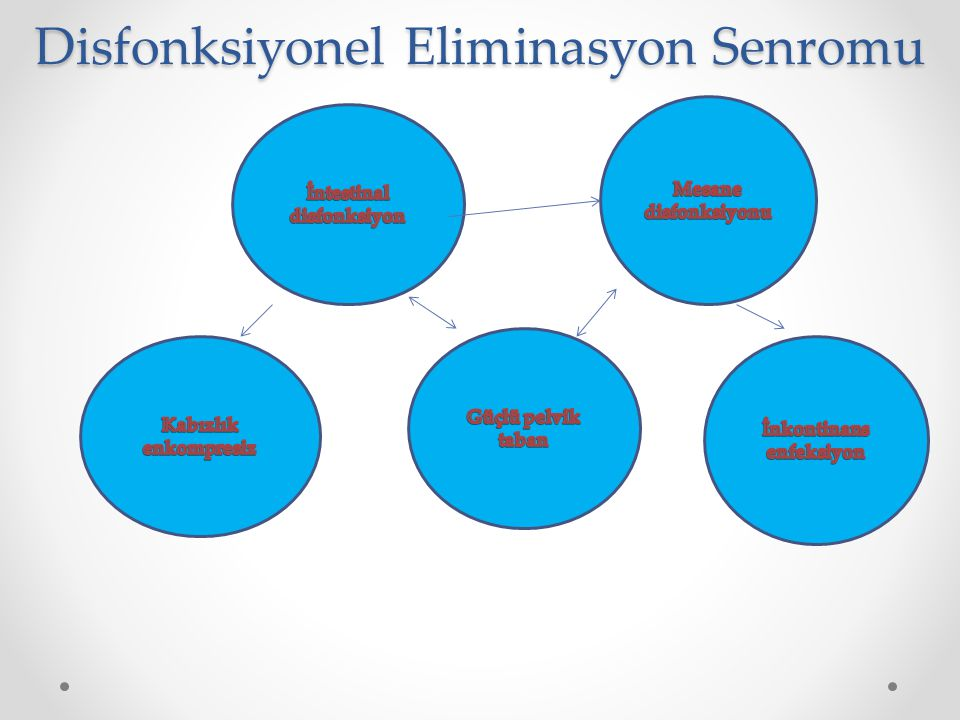 Disfonksiyonel Eliminasyon Senromu