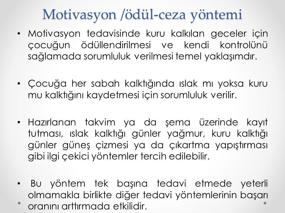Motivasyon /ödül-ceza yöntemi