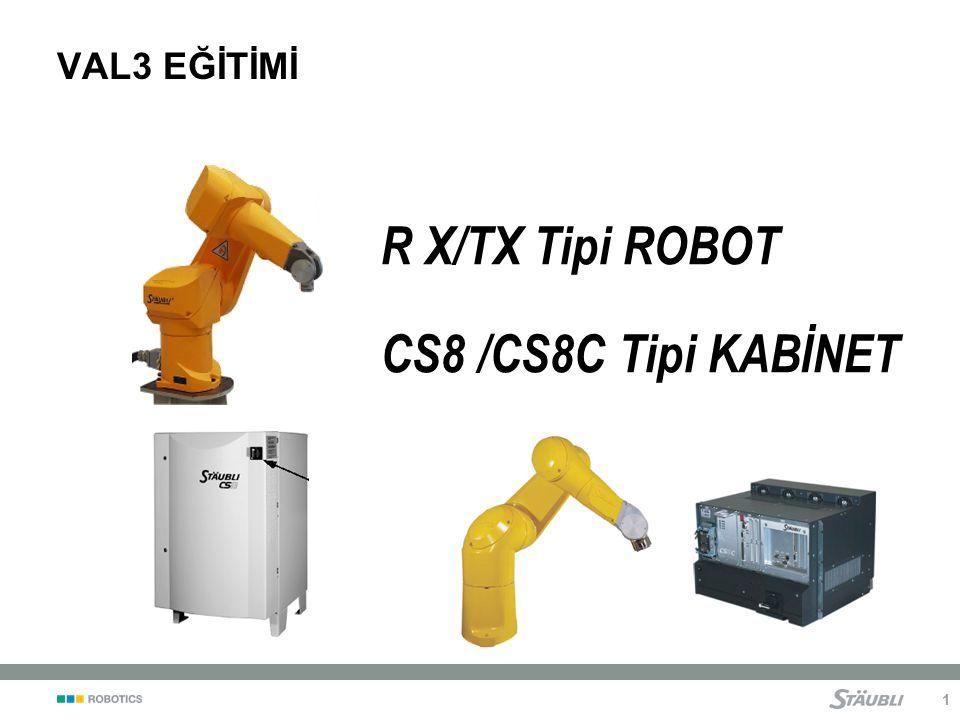 R X/TX Tipi ROBOT CS8 /CS8C Tipi KABİNET VAL3 EĞİTİMİ Notebook VAL3