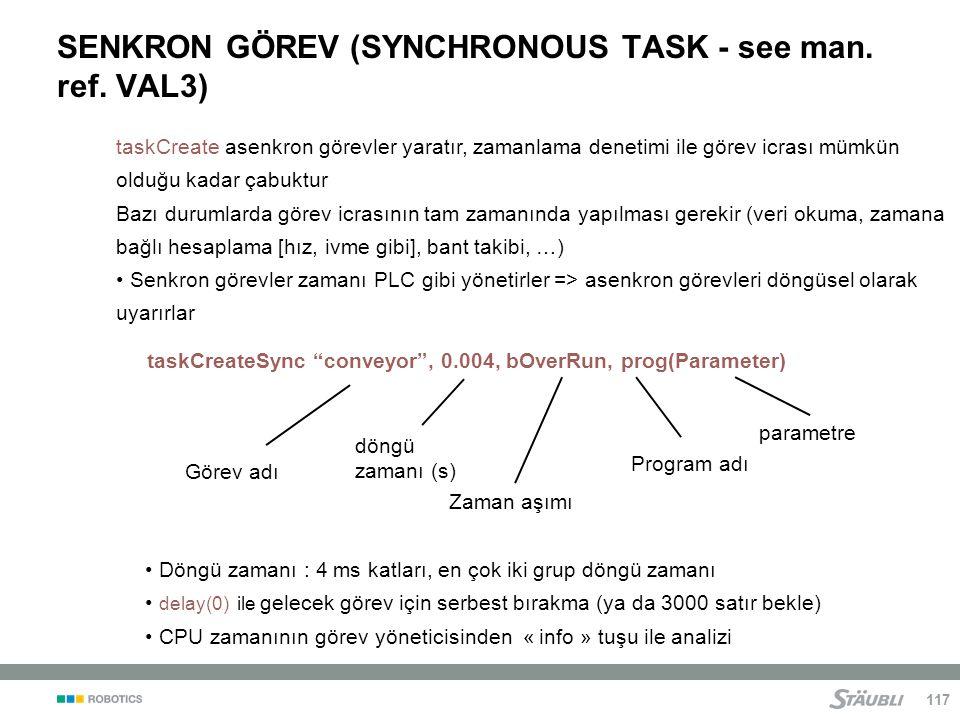 SENKRON GÖREV (SYNCHRONOUS TASK - see man. ref. VAL3)