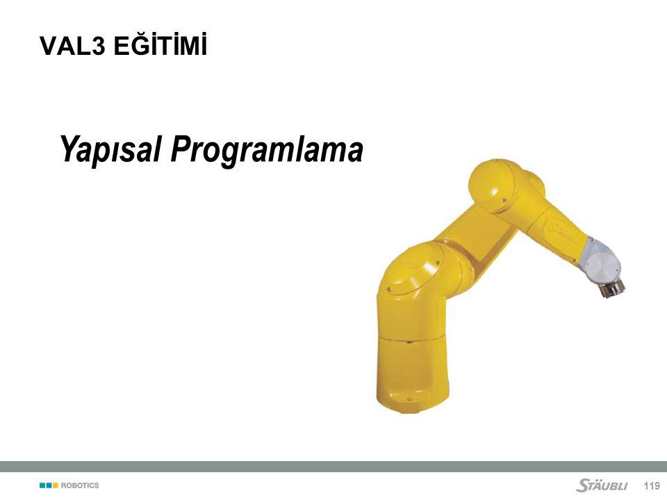 VAL3 EĞİTİMİ Yapısal Programlama