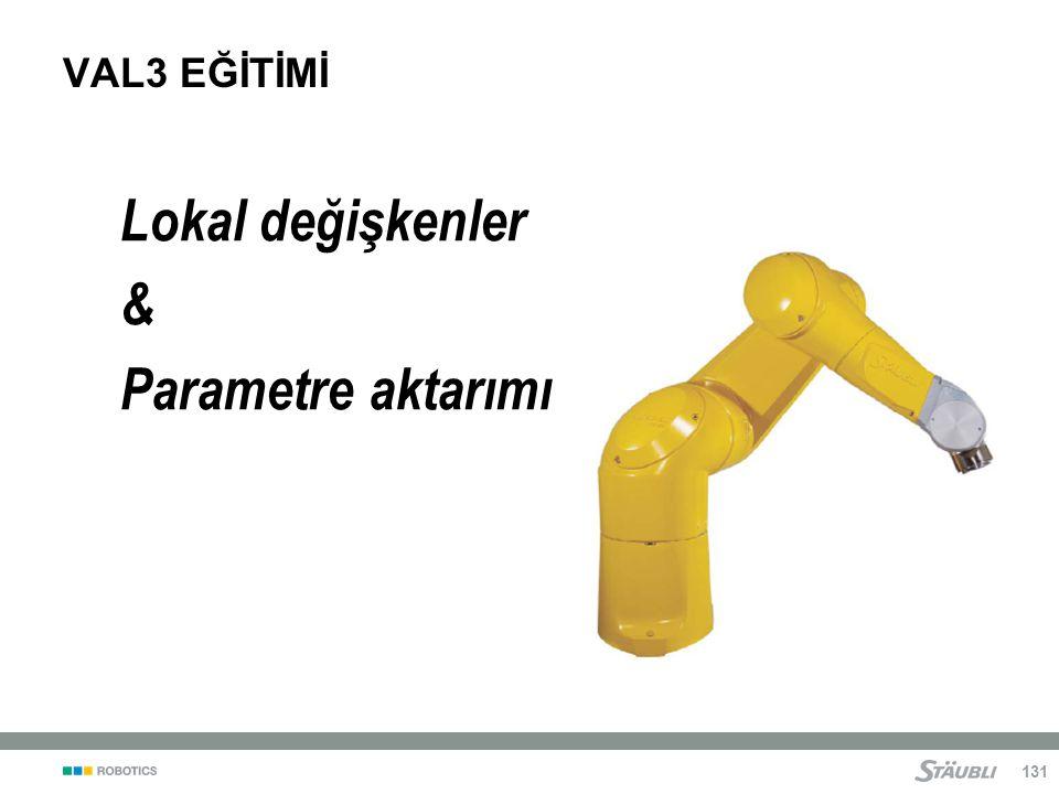Lokal değişkenler & Parametre aktarımı