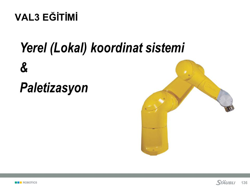 Yerel (Lokal) koordinat sistemi & Paletizasyon