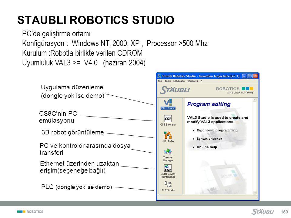 STAUBLI ROBOTICS STUDIO