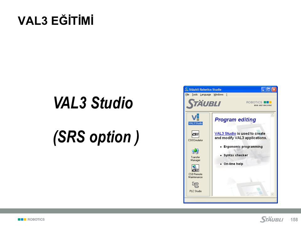 VAL3 EĞİTİMİ VAL3 Studio (SRS option )