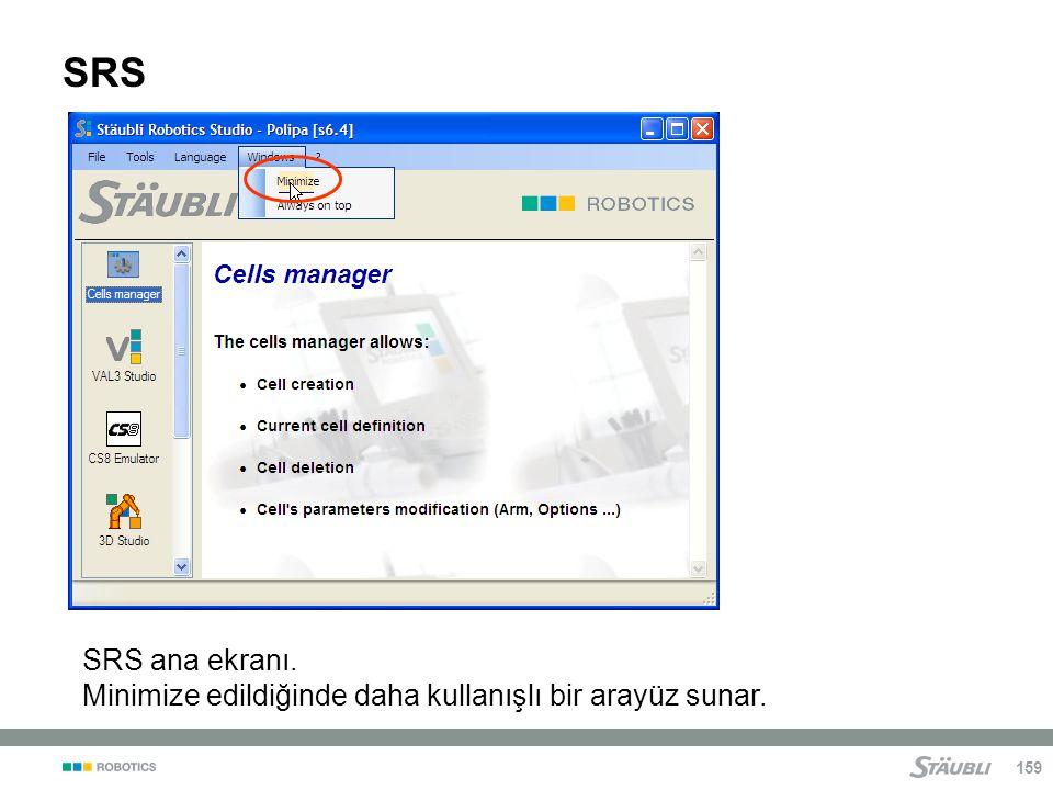 SRS SRS ana ekranı. Minimize edildiğinde daha kullanışlı bir arayüz sunar.