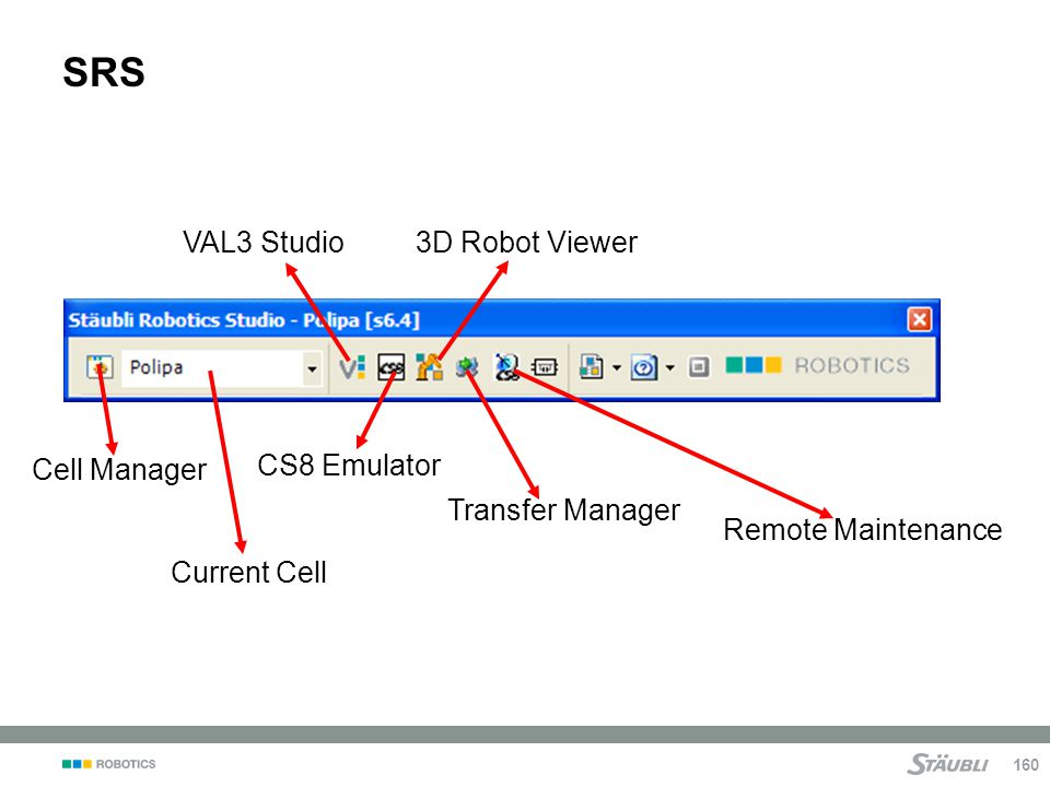 SRS VAL3 Studio 3D Robot Viewer Cell Manager CS8 Emulator