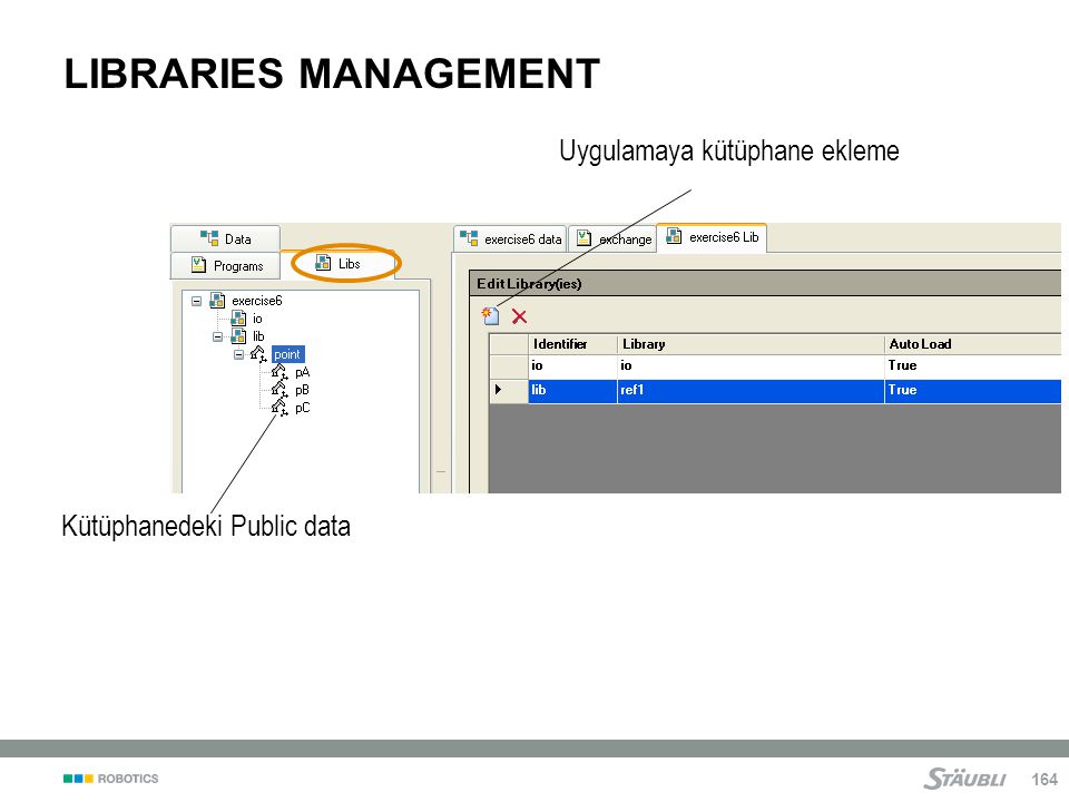LIBRARIES MANAGEMENT Uygulamaya kütüphane ekleme