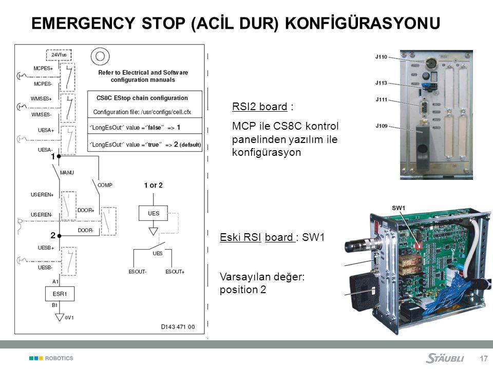 EMERGENCY STOP (ACİL DUR) KONFİGÜRASYONU