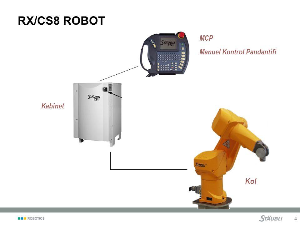 RX/CS8 ROBOT MCP Manuel Kontrol Pandantifi Kabinet Notes: Kol