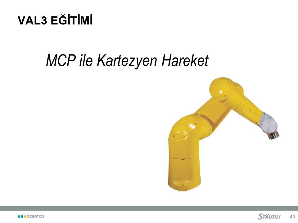 MCP ile Kartezyen Hareket