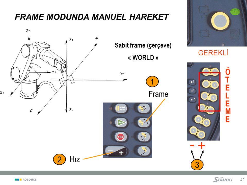 FRAME MODUNDA MANUEL HAREKET