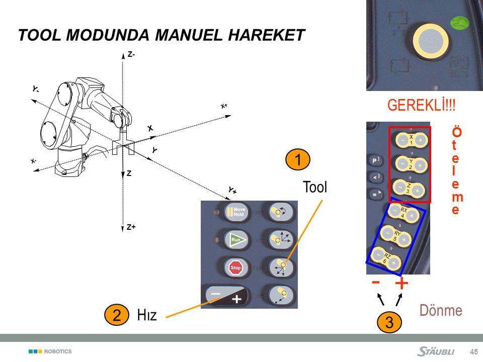 TOOL MODUNDA MANUEL HAREKET