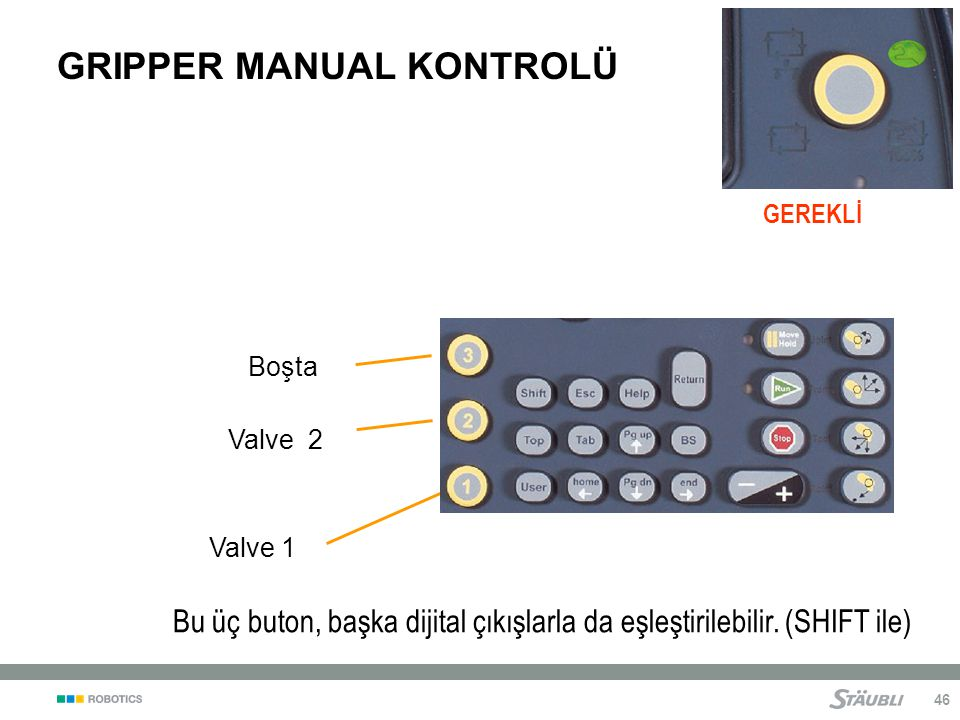 GRIPPER MANUAL KONTROLÜ